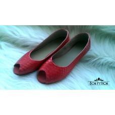 Балетки из кожи питона Selma (red)