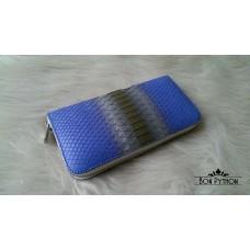 Кошелек Lori из кожи питона (blue-silver)