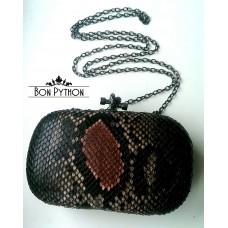 Клатч из кожи питона Bakel (black&pink)