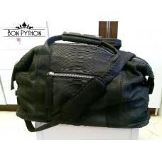 Дорожная сумка из кожи питона Leonardo mini (grey)