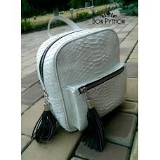Рюкзак Spencer из кожи питона (white)