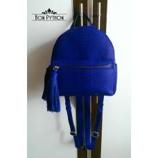Рюкзак Marion из кожи питона (blue)