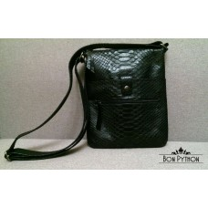 Мужская сумка Rolph (черная глянцевая)