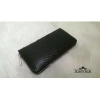 Кошелек из кожи питона Lori (black), металлическая фурнитура