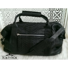 Дорожная сумка из кожи питона Leonardo mini (black)