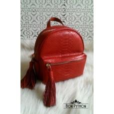 Рюкзак Marion из кожи питона (red)