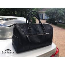 Дорожная сумка из кожи питона Milton (black)