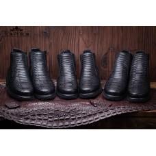 Ботинки из кожи питона Vancouver (black)