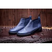 Ботинки из кожи питона Vancouver (blue)