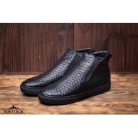 Ботинки из кожи питона Sebastian (black)