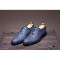 Туфли из кожи питона Vancouver (blue)
