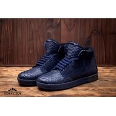 Ботинки из кожи питона Juno (blue)