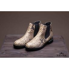 Ботинки из кожи питона Chandler (beige)