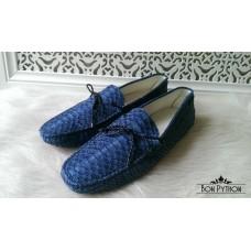 Мокасины из кожи питона Marion blue
