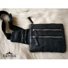 Поясная сумка из кожи питона size L