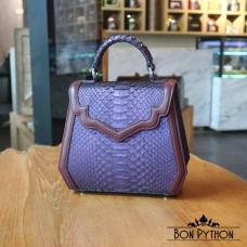 Сумка  из кожи питона Agatha (purple)