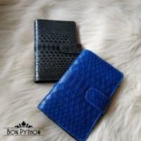 Обложка для паспорта из кожи питона (blue)