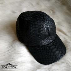 Кепка из кожи питона (black)