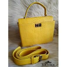 Сумка  из кожи питона Colette (yellow)