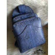 Мужской рюкзак из кожи питона (blue)