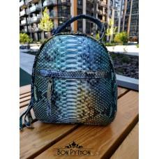 Рюкзак из кожи питона Aiden (green 3D)