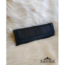 Клатч из кожи питона Mirah (black matte)