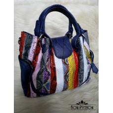 Сумка  из кожи питона Selma (multicolor blue)