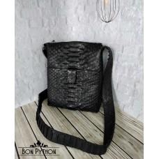 Мужская сумка из кожи питона Nolan (черная dragon)