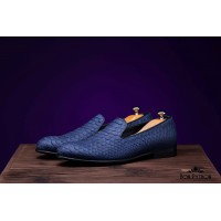 Туфли из кожи питона Holland (blue)