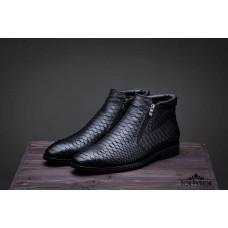 Ботинки из кожи питона Warren (black)