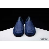 Мужские мокасины из кожи питона Milan (blue)