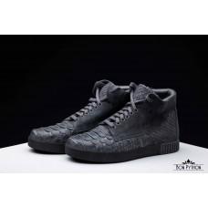Ботинки из кожи питона Juno (grey)