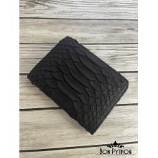 Обложка для паспорта из кожи питона (black dragon)