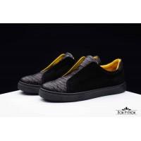 Ботинки из кожи питона Dayton (black)
